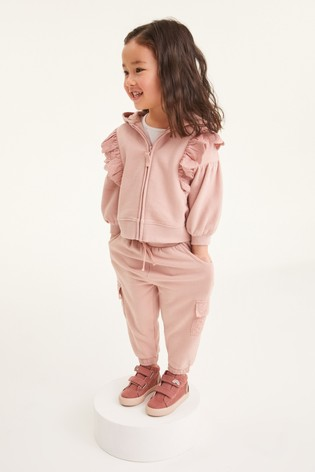 Pink Broderie Hoody Soft Touch Jersey (3mths-7yrs)