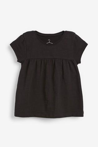 Black Cotton T-Shirt (3mths-7yrs)