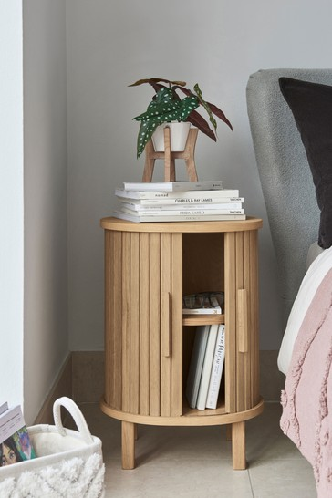 Conway Tambour Bedside Table
