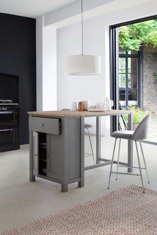 Malvern Dove Grey Storage Cupboard 2 Seater Bar Table