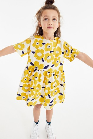 Floral Printed Jersey Dress (3-16yrs)