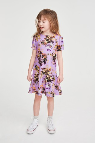 Purple Floral Occasion Dress (3-16yrs)