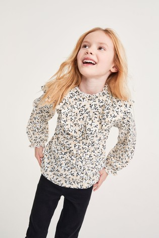 Floral Frill Detail Blouse (3-16yrs)