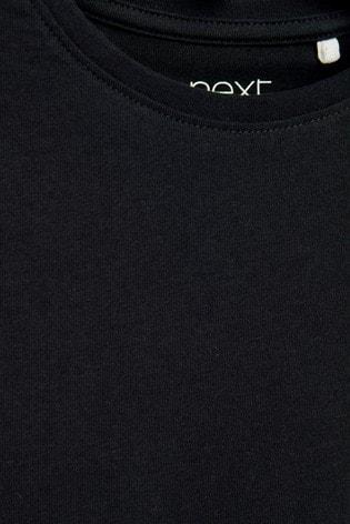 Black 1 Pack Regular Fit T-Shirt (3-16yrs)