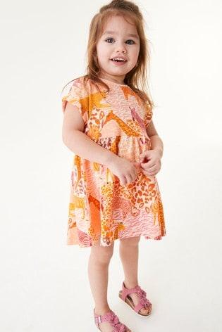 Orange Safari Cotton Jersey Dress (3mths-7yrs)