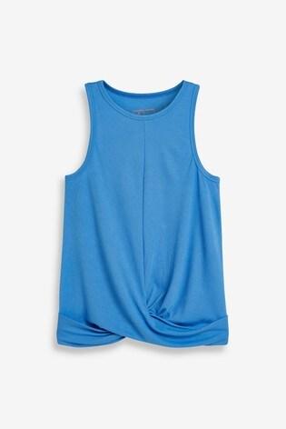 Blue Twist Front Vest