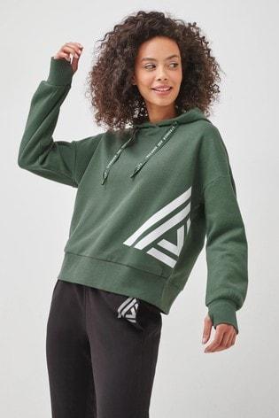 Khaki Logo Hoody