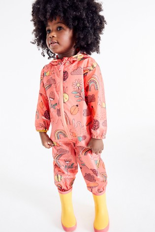 Coral Character Print Puddlesuit (3mths-7yrs)