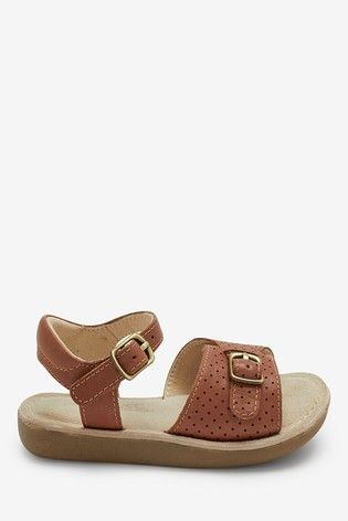 Tan Leather Standard Fit (F) Little Luxe™ Sandals