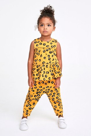 Animal Print Summer Vest And Joggers Co-ord Set (3mths-7yrs)