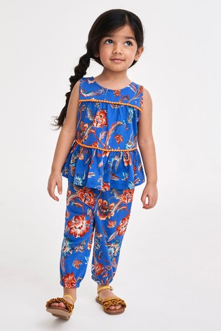 Navy Floral Summer Vest And Joggers Co-ord Set (3mths-7yrs)