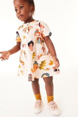 Peach Faces Organic Cotton Dress (3mths-7yrs)