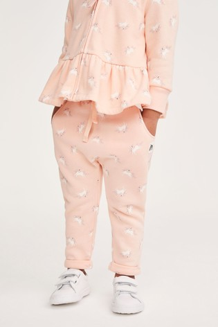 Peach Unicorn Joggers Soft Touch Jersey (3mths-7yrs)