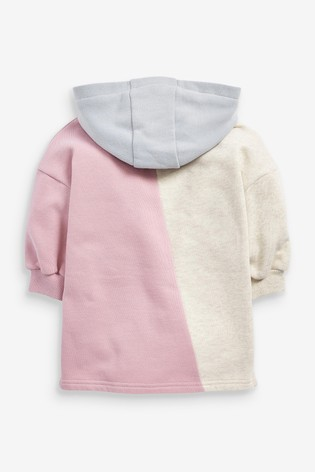 Lilac Colourblock Overhead Hoodie (3mths-7yrs)
