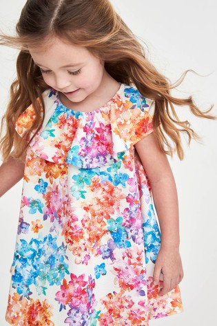 Pink Bright Floral Dress (3mths-7yrs)