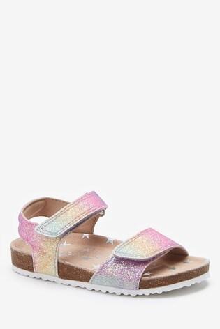 Rainbow Glitter Standard Fit (F) Sandals