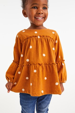 Rust Spot Tiered Tunic Top (3mths-7yrs)