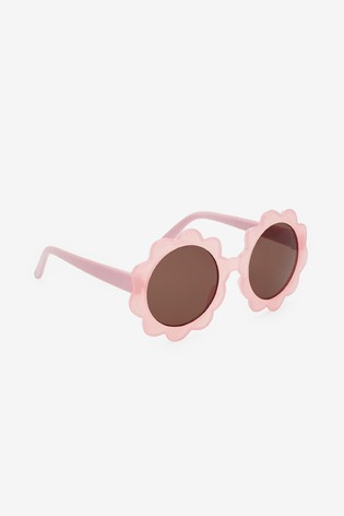 Pink Flower Sunglasses