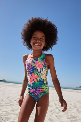 Cobalt Palm Swimsuit (3-16yrs)
