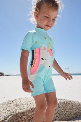Aqua 3D Unicorn Sunsafe Suit (3mths-7yrs)