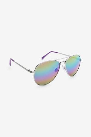 Rainbow Aviator Style Sunglasses