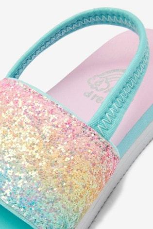 Rainbow Glitter Pool Sliders (Younger)