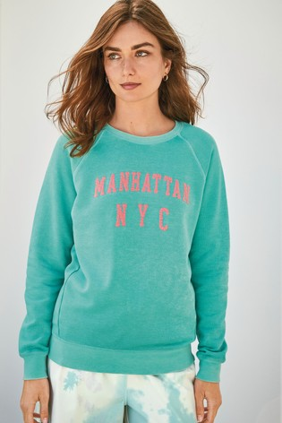 Aqua New York City Graphic Sweatshirt