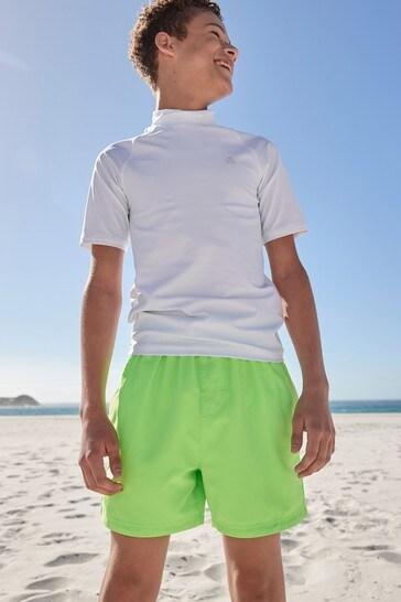 White Short Sleeve Sunsafe Rash Vest (1.5-16yrs)