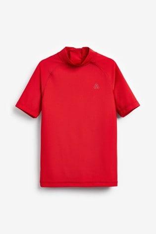 Red Short Sleeve Sunsafe Rash Vest (1.5-16yrs)