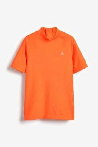 Orange Short Sleeve Sunsafe Rash Vest (1.5-16yrs)