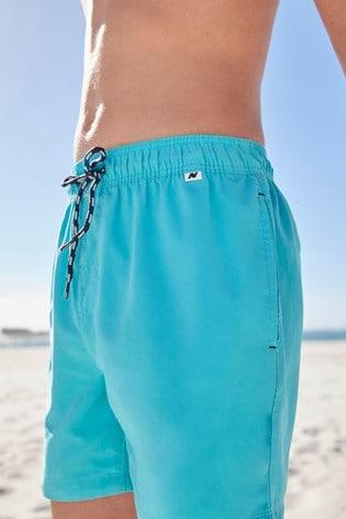 Turquoise Regular Length Swim Shorts (1.5-16yrs)