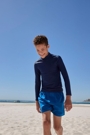 Navy Long Sleeve Sunsafe Rash Vest (1.5-16yrs)