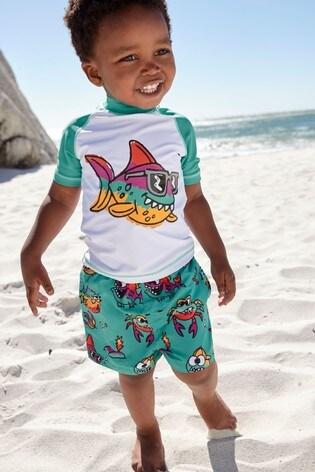 Piranha Rash Vest And Shorts Set (3mths-7yrs)