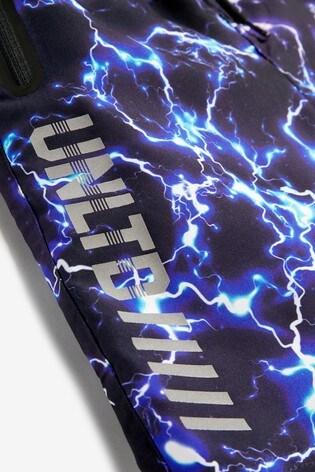 Black Lightning Board Swim Shorts (3-16yrs)