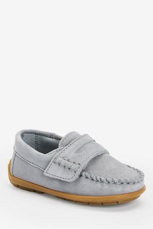 Grey Penny Loafers
