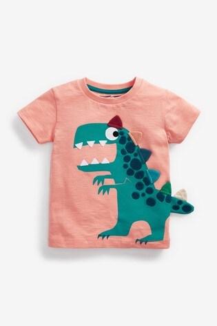 Peach Dino Appliqué T-Shirt (3mths-7yrs)