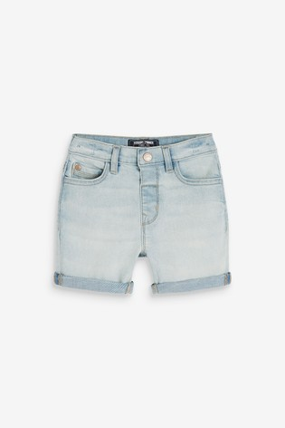 Denim Bleach Regular Fit Denim Shorts (3mths-7yrs)