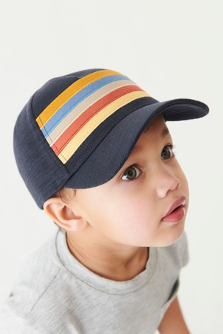Navy Stripe Cap (3mths-10yrs)