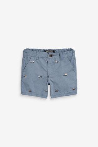 Blue Transport Chino Shorts (3mths-7yrs)