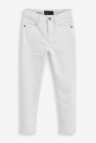 Denim White Skinny Fit Five Pocket Jeans (3-16yrs)