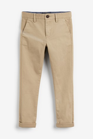 Stone Skinny Fit Stretch Chino Trousers (3-16yrs)