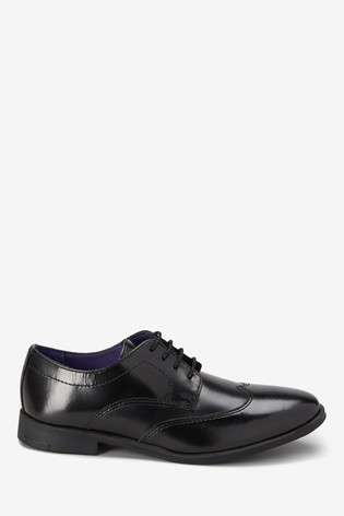 Black Leather Formal Lace-Up Shoes