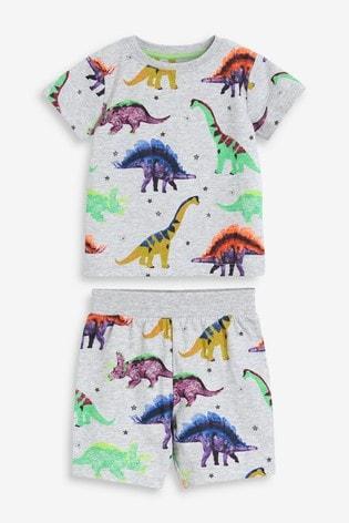 Multi Dinosaur Short Pyjamas (9mths-12yrs)
