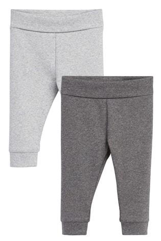 Grey 2 Pack Leggings (0mths-2yrs)