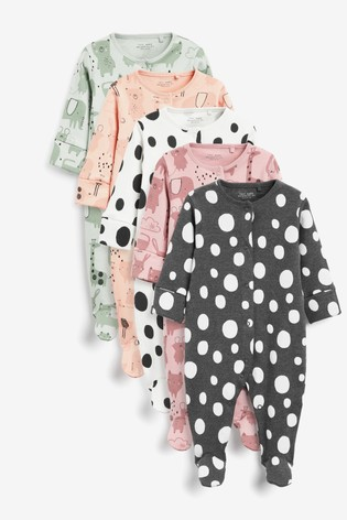 Stampy Character 5 Pack Sleepsuits (0-2yrs)