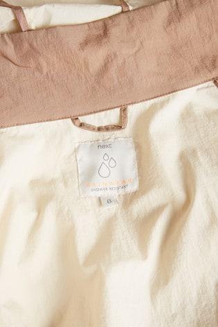 Stone Colourblock Lightweight Long Jacket