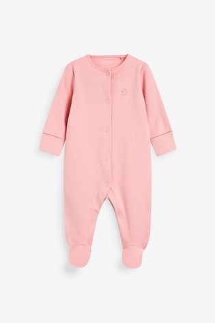 Pastel 5 Pack Plain Sleepsuits (0mths-2yrs)