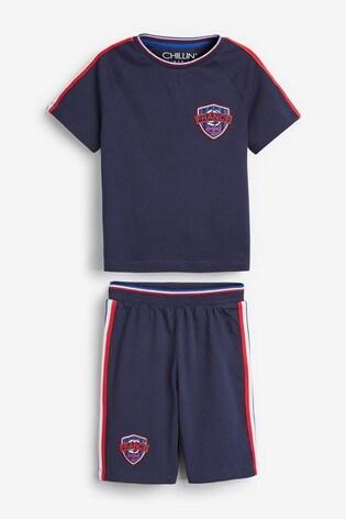 Navy France Football Short Pyjamas (3-16yrs)