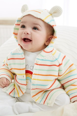 Multi Rainbow Stripe Cardigan (0mths-2yrs)