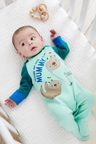 Teal Mummy Sleepsuit (0mths-2yrs)